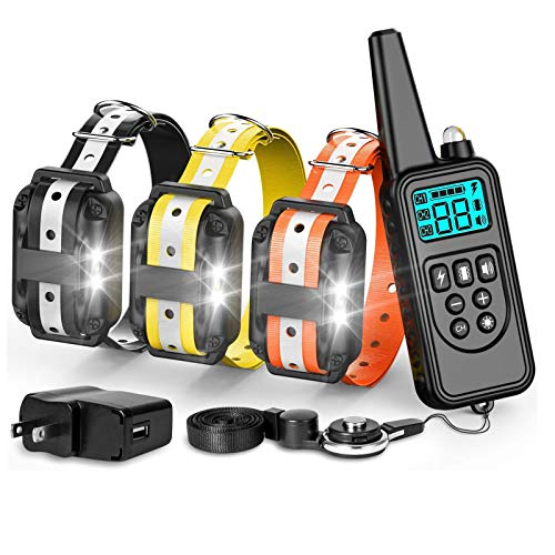 F-color Dog Training Collar, with Remote 865 Yards...