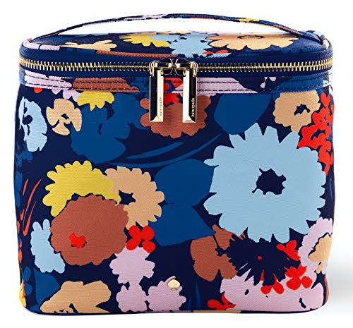 Kate Spade New York Insulated Soft Cooler Lunch Tote with Double Zipper Close and Carrying Handle, Swing Flora