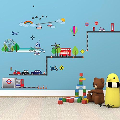 WALPLUS Transport of London - WS3015 DI-QCDI-3XQU - Producto para casa, Color Mixto