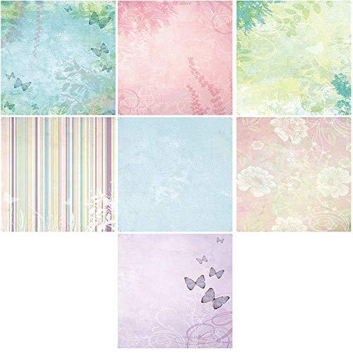 Wacemak1r Papeles decorativos para álbumes de recortes, tarjeta de arte de origami, mariposa, fondo de papel, para álbumes de recortes, tarjetas de felicitación, decoración