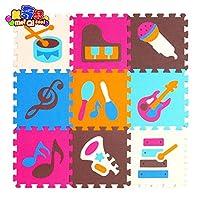 IGOSAIT 子供の柔らかい開発這い敷物、赤ちゃんの遊びパズル番号/文字/漫画のEVAの泡マット、赤ちゃんのゲームのためのパッドの床30 * 30 * 1cm 犬/猫小屋 四季通用 (Color : P009, Size : 30cm 30cm 1cm)