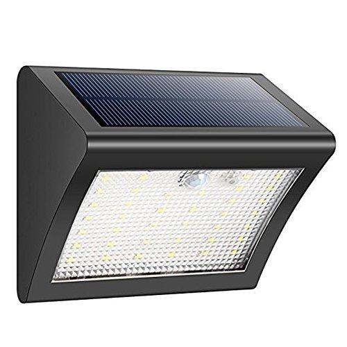 38 LED Luci solari Sensore di movimento Luci di sicurezza Luci esterne wireless alimentate a energia solare Luci esterne per giardino recinzione patio cortile passaggio pedonale vialetto scale parete