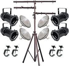 4 Black PAR CAN 64 1000w PAR64 VNSP C-Clamps Stand