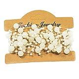 Mattierte Perlenkette Perlenband Perlengirlande Perlenschnur Weihnachten Advent Hochzeit Deko Tischdeko