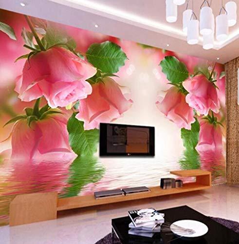 3D vliesbehang fotovlies premium fotobehang behang behang vlies voor slaapkamer muren romantische pastorale bloem woonkamer tv-achtergrond 200*140 200 x 140 cm.