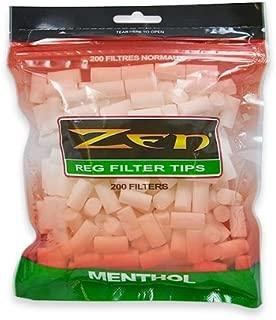 200 ZEN Regular Cigarette Menthol Filter Tips