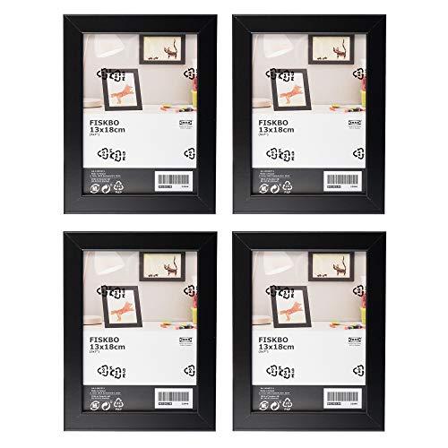 Ikea FISKBO Lot de 4 cadres photo Noir 13 x 18 cm