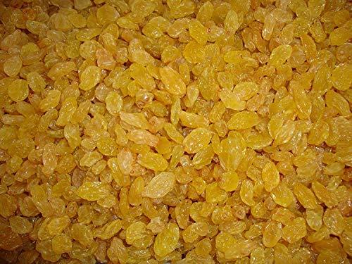 Rosinen Golden | Getrocknete goldene Rosinen 1kg | Ohne Zucker | Groß Goldene Rosinen | GVO-frei | Heimisch in Südafrika | Hoch in Faser | Dorimed