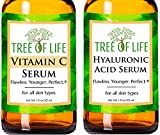 Anti Aging Serums - Vitamin C Serum and Hyaluronic Acid Serum 2-Pack Set (1 of each Anti Wrinkle Serum)