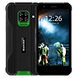 Blackview BV5100 IP69K Outdoor Smartphone ohne Vertrag - 5.7 Zoll HD+ 16MP+13MP Quad-Kamera, 4GB ROM + 128GB RAM, Android 10 Octa-core Dual-SIM 5580mAh Handy - NFC/GPS/OTG/Face ID - Global Version