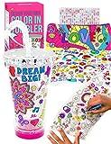 Purple Ladybug Becher zum Selbermachen mit Ausmal-Designs für Mädchen Isolierter Trinkbecher mit Strohhalm - EIN Tolles Geschenk für Mädchen | Kreatives Bastelset & Kunstset für Kinder