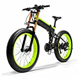 Liu Yu·casa creativa Bicicleta eléctrica de Nieve para Adultos 1000W 48V 26 Pulgadas neumático Gordo Bicicleta de Arena eléctrica Plegable, Sensor de Asistencia de Pedal de 5 Niveles Ebike