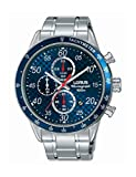 Lorus Herren Chronograph Quarz Uhr mit Edelstahl Armband RM329EX9