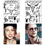 Comdoit 4 Sheets Halloween Face Tattoos for...