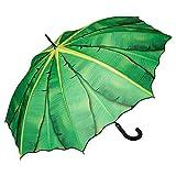 VON LILIENFELD Paraguas de Iluvia Largo Clásico Automático Grande Estable Mujer Motivo Hoja de...