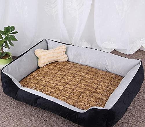 Baodaner Cama para perro pequeña y grande de espuma viscoelástica, lavable a máquina, cómoda y segura para mascotas (80 x 60 cm, negro)
