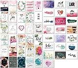 52 Postkarten Hochzeit - 52 Wochen lang, jede Woche eine Liebe Postkarte - Kreatives Hochzeitsgeschenk - Postkarten Hochzeitsspiel - A6 (10,5cm x 14,8cm)