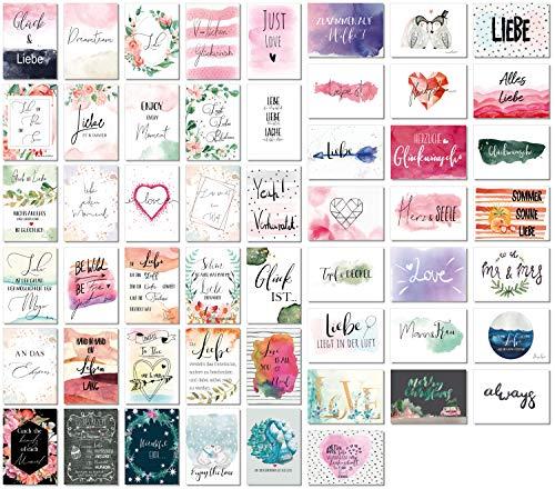 52 Postkarten Hochzeit - 52 Wochen lang, jede Woche eine Liebe Postkarte - Kreatives Hochzeitsgeschenk - Postkarten Hochzeitsspiel