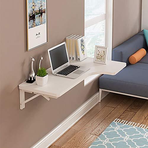 OH Computer-Schreibtisch zur Wandmontage für den Haushalt - Klapptisch zur Wandmontage Holz L-förmiger Eck-Computer-Schreibtisch mit fallendem Blatt Esstisch gegen Wand Lerntisch zu