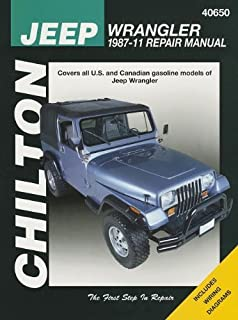 Repair Manual Chilton 40650 fits 97-11 Compatible with/Replacement for Jeep Wrangler
