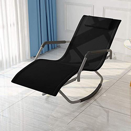WFFF Mecedora Plegable con reposabrazos y Respaldo Silla reclinable Relajante de 150 ° para Sala de Estar, Patio y terraza