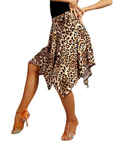 SCGGINTTANZ G2016 Latin Latein Der Ball Tanz Gesellschaftstanz Professionell unregelmäßige Design Tägliche Schulung Röcke (Die schürze) ((FBA) Leopard, Small-Large(Free-Size))