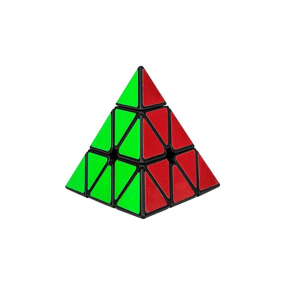 解決かどうか第三Qiyuezhuangshi ルービックキューブ、滑らかで快適なルービックキューブ、クリエイティブトライアングルデザイン、高品質デザインスタイル(トライアングル) ファッション (Edition : Triangle)