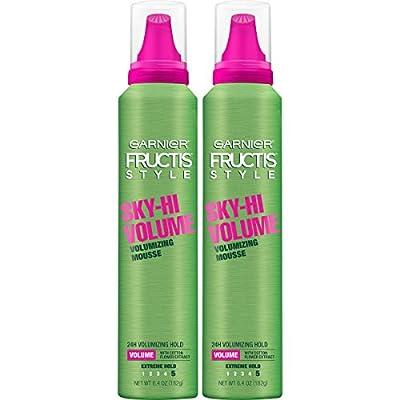 Garnier Fructis Style Sky-Hi Volume Mousse, All Hair Types, 6.4 oz. (Packaging May Vary)