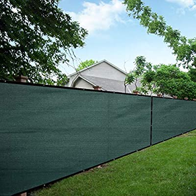 LOVE STORY 4'x25' Dark Green Fence Privacy Screen 88% Blockage Windscreen Mesh Fence Cover 200 GSM