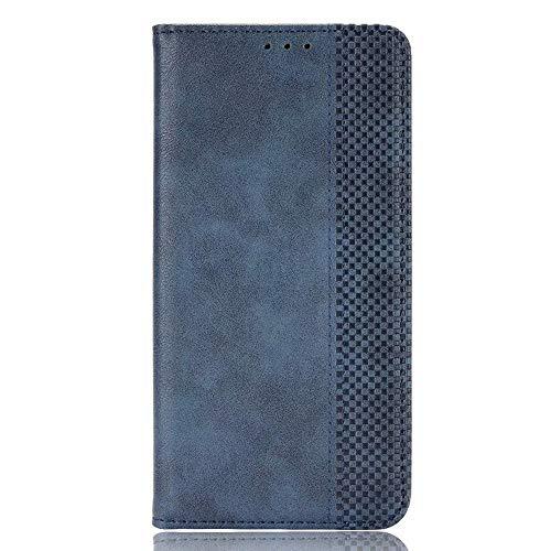 BAIDIYU Funda para Samsung Galaxy F62, Efectivo y Tarjetas Ranuras, Estuche Tipo Billetera de Cuero PU de Lujo con Tapa, Funda Carcasa para Samsung Galaxy F62.(Azul)