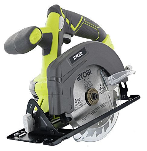 """Ryobi One P505 18V Lithium Ion Cordless 5 1/2"""" 4,700 RPM Circular Saw (Battery Not Included, Power Tool Only), Green"""