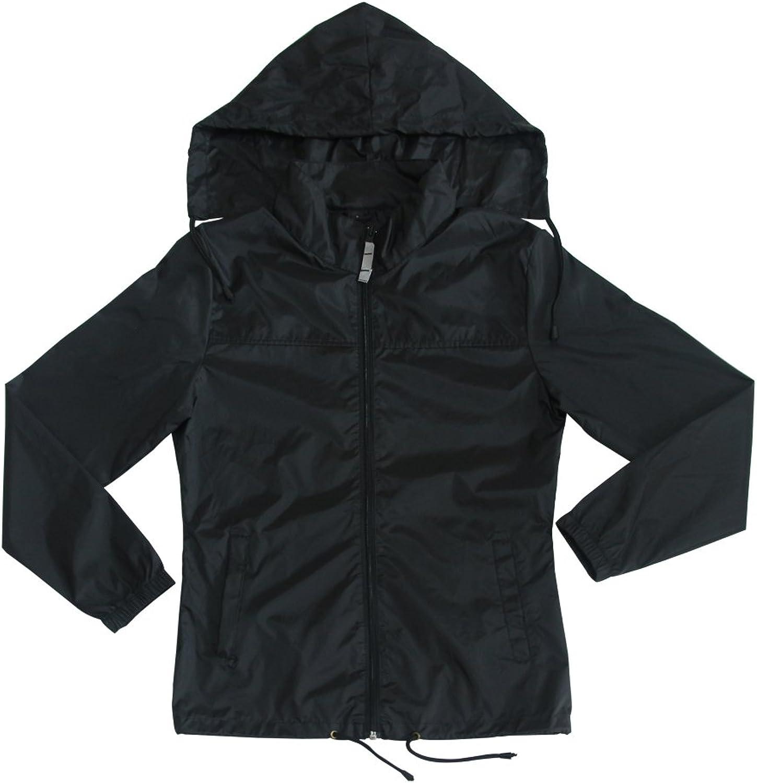 SHETHINX Women's Lightweight Outdoor Black Sports Jacket Quick Dry Windproof Windbreaker