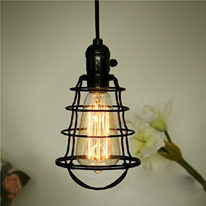Die Beleuchtung Mini Vintage Edison Kfig hngen Unterstützer von Feuer, schwarze Kabel für die Küche des Hauses der Beleuchtung Innenbeleuchtung
