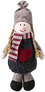 Succper Standing Figurine Toys Xmas Santa Claus Snowman Reindeer Figure Plush Dolls Christmas Decorations Ornaments Home Indoor Table Ornaments Christmas Party Tree