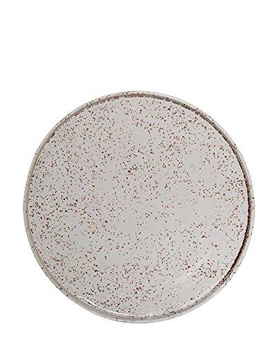 Bloomingville - Teller, Speiseteller - Sui - Keramik - weiß/gesprenkelt - D 24 cm