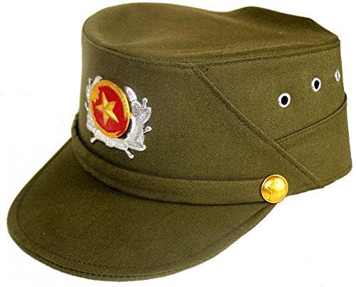 Terrapin Trading Ltd Vietnam Army Vietnamese Military Cap Hut mit Metall Abzeichen Armee Überschuss