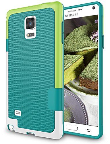 Galaxy Note 4 Case, Zectoo Hybrid Impact Slim Rugged Defender Protective Bumper Cute Women Girls Flexible Enhanced Non-slip Grip Case Soft Armor Cover Shell For Samsung Galaxy Note 4 IV SM-N910H Green