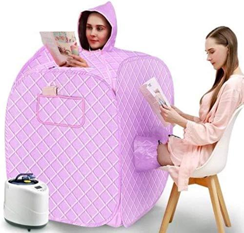 Rabbfay Faltbare Mobile Sauna Detox, Tragbare Dampfsauna Dampfeinzeldampftasche Begasung Maschine Vollmond Svářečství Infrarot-Sauna Box Verlieren Gewicht,Purple