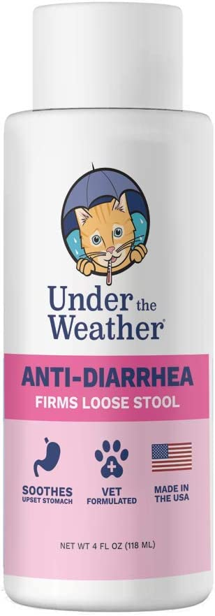 Under the Weather Anti-Diarrhea Liquid Medication for Dogs and Cats - Soothe Your Pet's Upset Stomach and Stop Diarrhea, Firms Loose Stool - (4 oz Bottle)