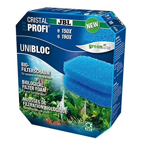 JBL UniBloc 6016200 Bio-Filterschaum Einsatz für Aquarienfilter CristalProfi e 150X, e 190X, 2er-Pack