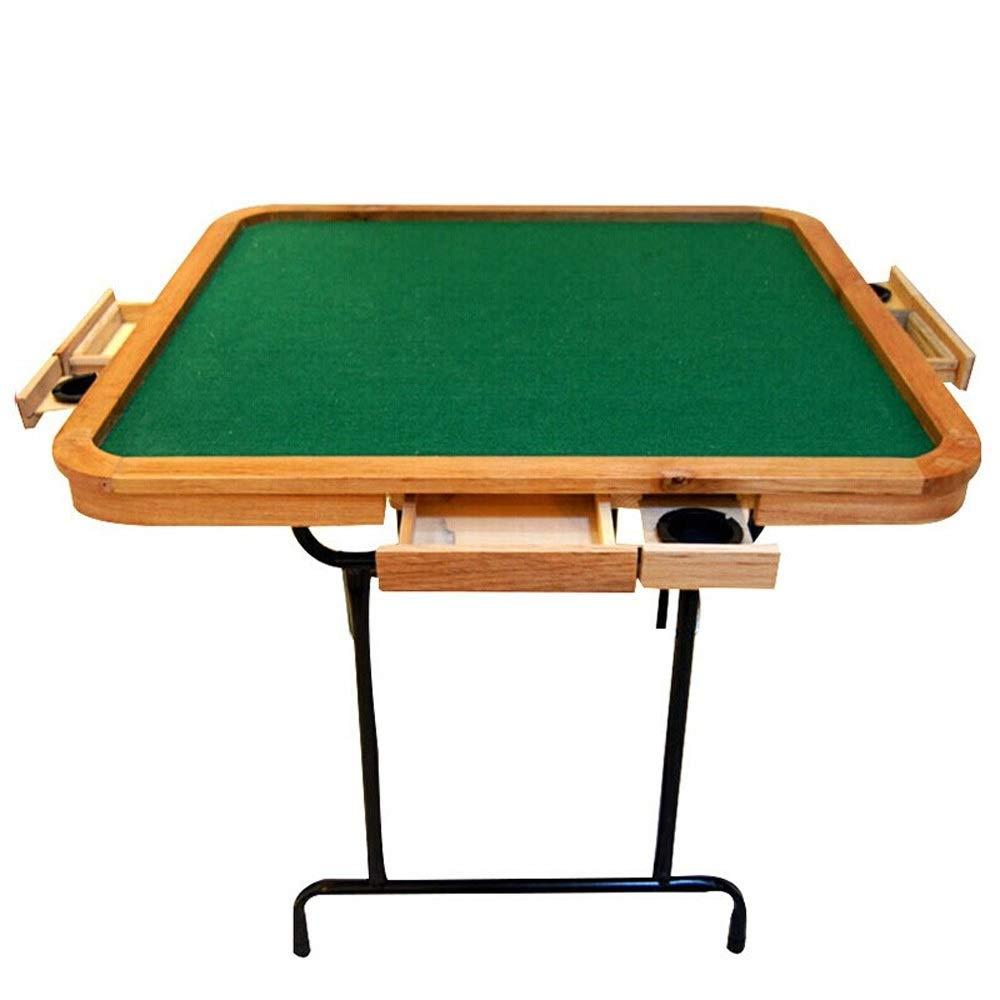Susulv Mesa Mahjong Manual de Plegado Mahjong Tabla de Madera Simple de tubería de Acero compartida Ajedrez Hogar de Mesa Ajedrez (Color : Wood, tamaño : 90X90X75cm): Amazon.es: Hogar