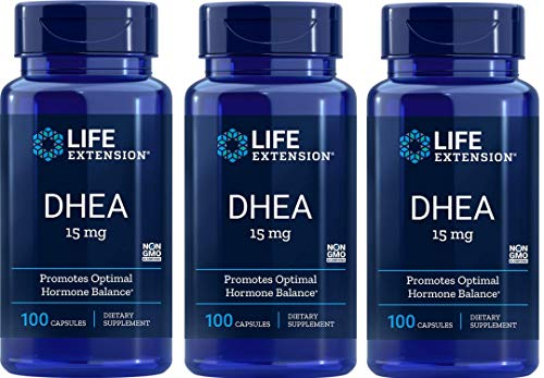Life Extension DHEA, 15 Milligram, 100 Capsules (Pack of 3)