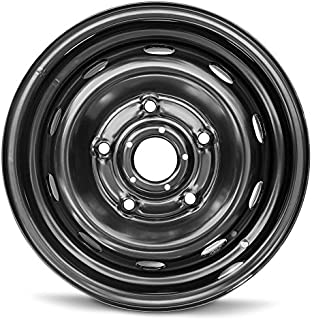 Road Ready Car Wheel For 2015-2019 Ford Transit 150 Transit 250 Transit 350 16 Inch 5 Lug Black Steel Rim Fits R16 Tire - Exact OEM Replacement - Full-Size Spare