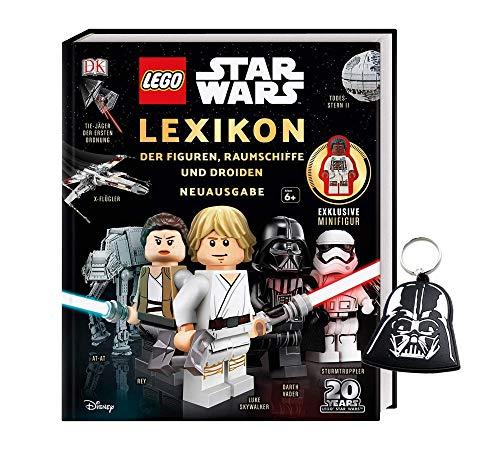 Buchspielbox Lego Star Wars - Juego de figuras de los Lexikon, naves espaciales y droides, incluye llavero de Star Wars