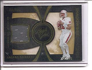 Jacoby Brissett NC State Wolfpack/Indianapolis Colts 2016 Panini Black Gold Shadow Box Swatches Jersey Memorabilia Rookie Football Card #146/199