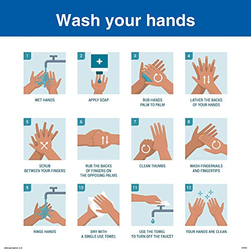 Viking Signs Wash your hands sign - Vinyl/Sticker