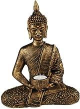 something different Grande Thai Buda té luz Ornament, Color Dorado y Bronce