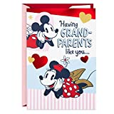 Hallmark Valentines Day Card for Grandparents (Mickey Mouse, Minnie Mouse, Double Scoop Ice Cream)