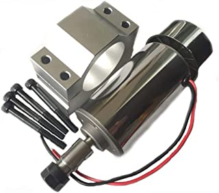 Air Cooled 300W DC Spindle Motor 12-48V DC ER11 Collet CNC Spindle Motor with 52mm DC Spindle Motor Clamp Mount Bracket for PCB CNC Mahine (New 0.3kw CNC Spindle + 52mm Clamp)