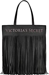 Limited Edition BLACK Faux Leather Flirty Fringe TOTE BAG NEW